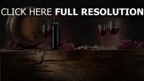 vin verre verre bouteille nature morte