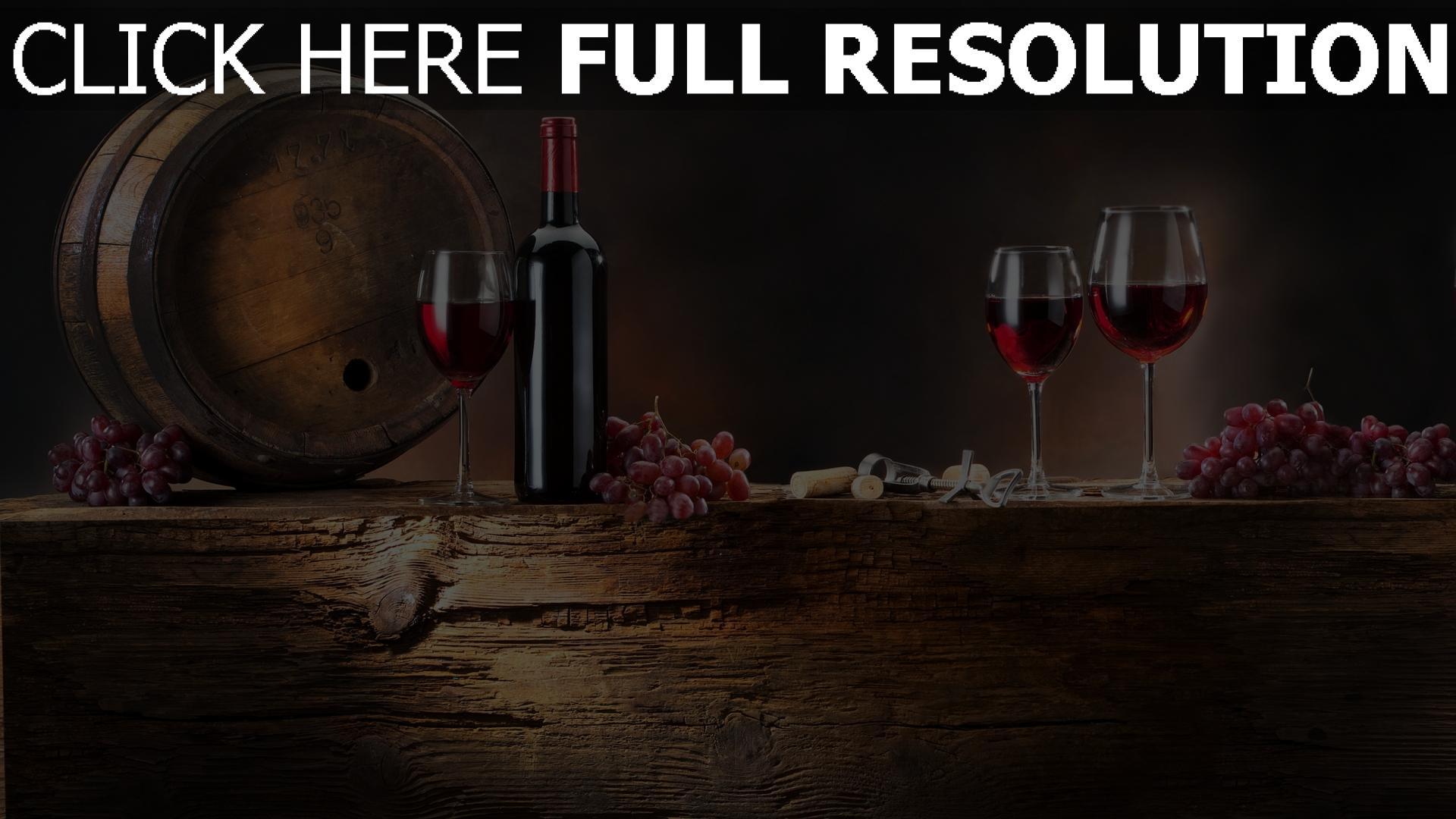 fond d'écran 1920x1080 vin verre verre bouteille nature morte