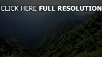 montagne vue aérienne colombie