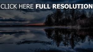 île soirée lac calme finlande