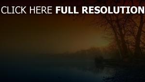 rivière fumée lever du soleil automne états-unis
