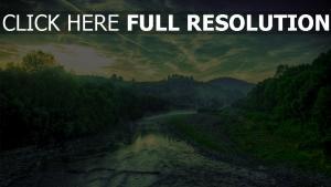 rivière forêt horizon belgique