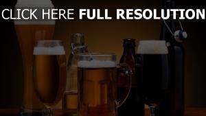 bière verre bouteille