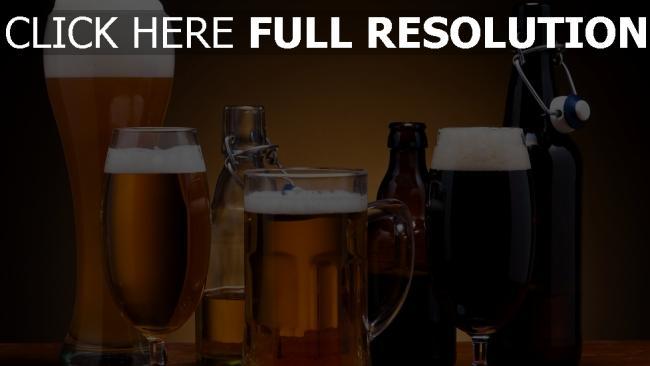 fond d'écran hd bière verre bouteille