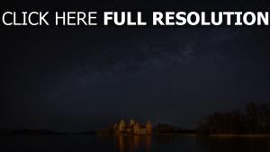 voie lactée nuit allemagne château