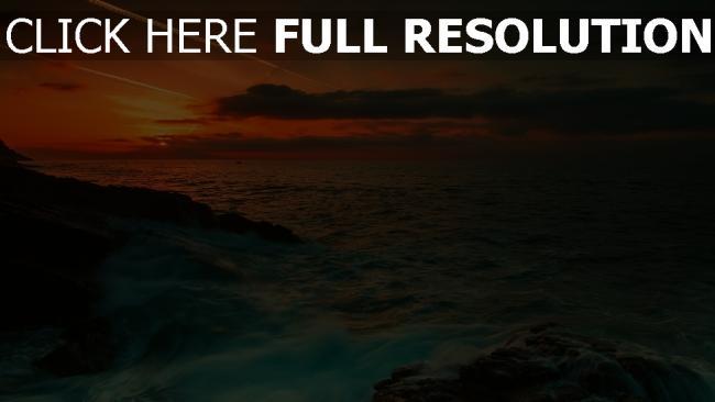 fond d'écran hd coucher du soleil merveilleux vue mer australie