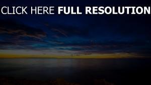 horizon mer coucher du soleil Irlande