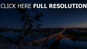pont rivière nuit vue d'en haut allemagne