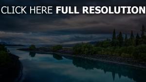 rivière calme réflexion jardin autriche