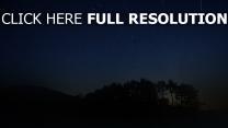 nuit ciel bois flou