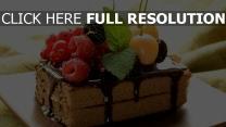gâteau framboise baie délicieux