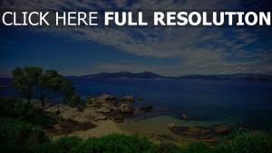 côte portugal montagne horizon