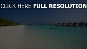 bungalow hôtel maldives plage