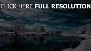 nuageux hiver rivière danemark