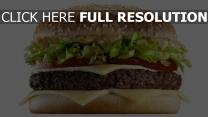 burger viande fromage sauce