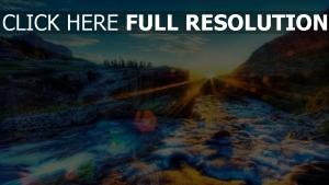 rayon rock coucher du soleil Irlande