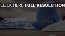 iceberg illuminée canada merveilleux vue