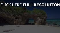 côte rock azur océan bali