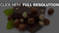 chocolat noisette gros plan
