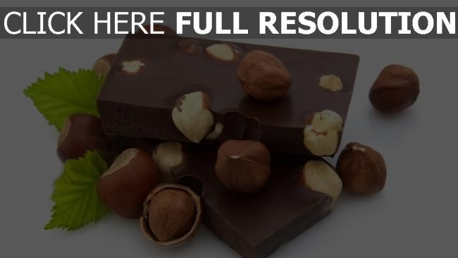 fond d'écran hd chocolat noisette gros plan