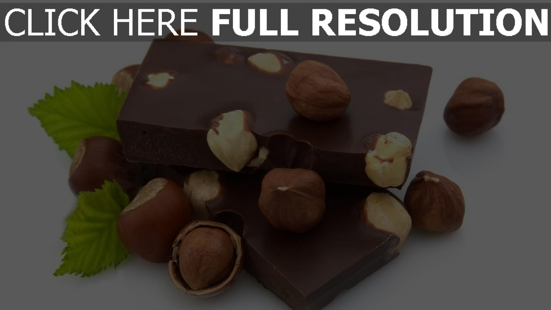 fond d'écran 1920x1080 chocolat noisette gros plan