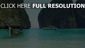 thaïlande bateau rock azur océan