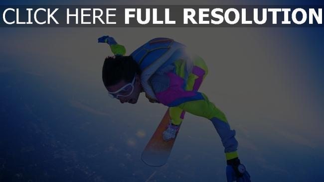 fond d'écran hd saut en parachute vent multicolore