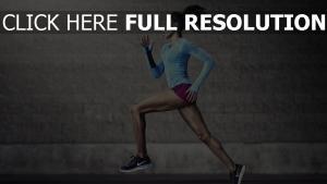 athlète courir chaussures de course