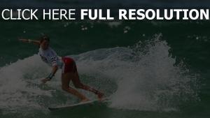 surf vague mousse athlète humide
