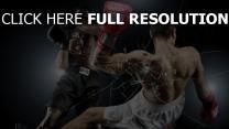 boxe combat athlète