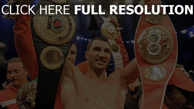 fond d'écran hd wladimir klitschko boxe ceinture de champion
