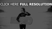 surf planche noir et blanc
