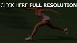 tennis athlète balle grimace,
