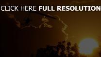 trike coucher du soleil merveilleux vue