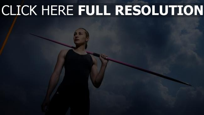 fond d'écran hd athlète blond lance nuageux