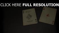 carte à jouer rétro
