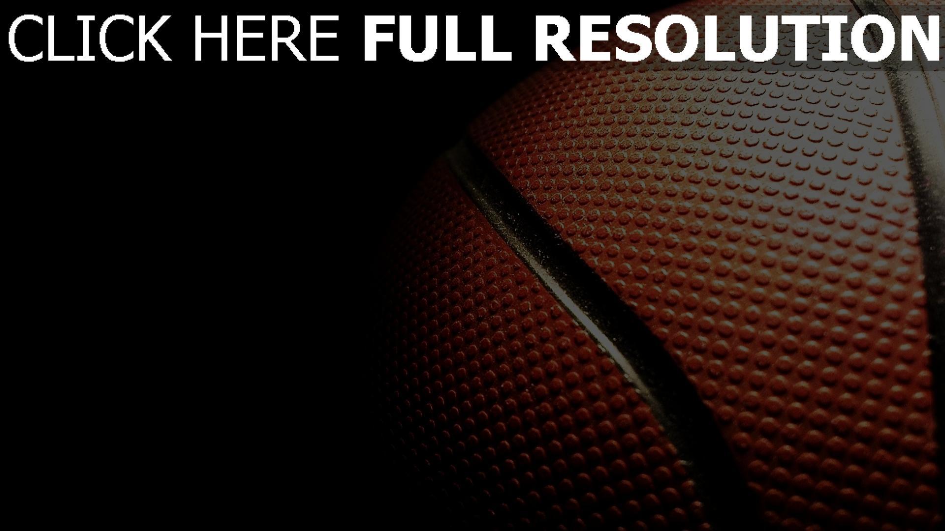 fond d'écran 1920x1080 basket-ball balle gros plan