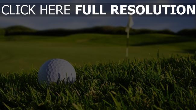 fond d'écran hd golf balle gros plan terrain
