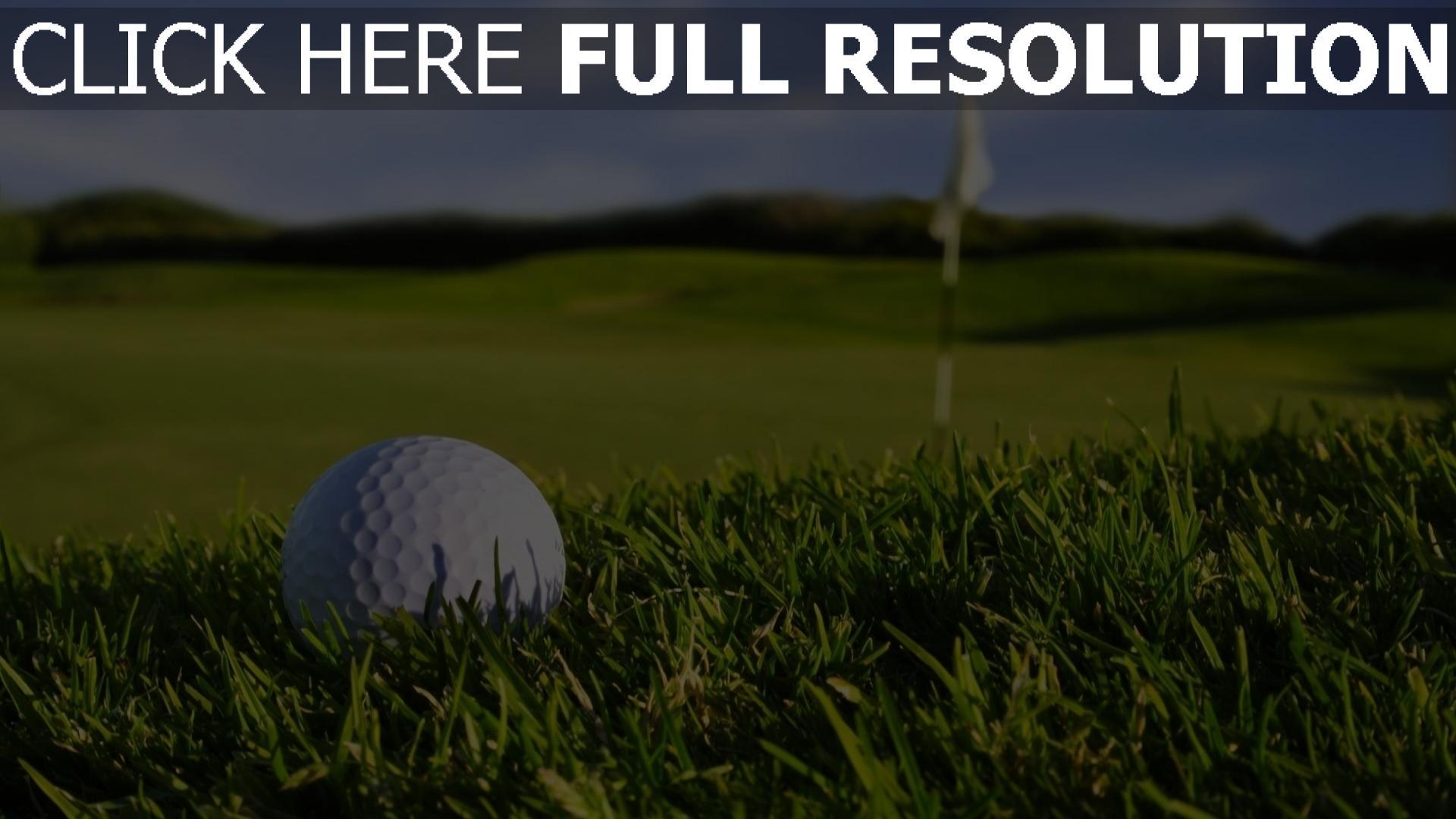 fond d'écran 1920x1080 golf balle gros plan terrain