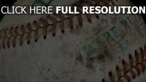baseball balle gros plan vieux