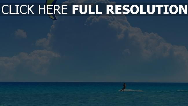 fond d'écran hd ski nautique horizon seychelles