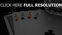 carte à jouer verre gros plan