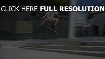 skateboard truc flou