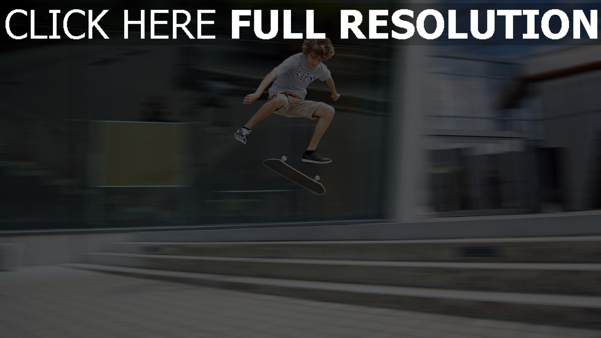 fond d'écran 1920x1080 skateboard truc flou