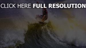 surf vague éclaboussure chauve athlète