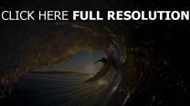 surf vague soirée merveilleux vue