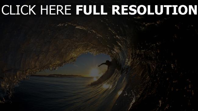 fond d'écran hd surf vague soirée merveilleux vue