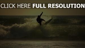 vague surf silhouette mousse maldives