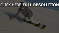 snowboard vitesse couverts de neige courchevel