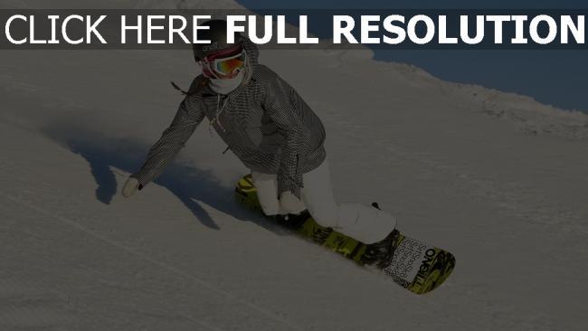 fond d'écran hd snowboard vitesse couverts de neige courchevel